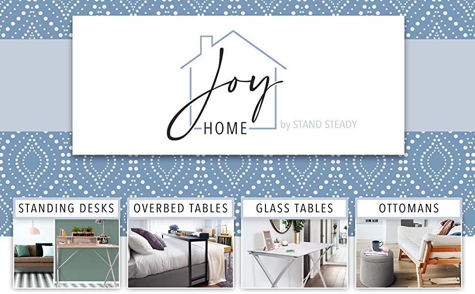 Joy by stand steady logo and banner