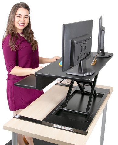 FlexPro Air Sleek and Modern Standing Desk Converter