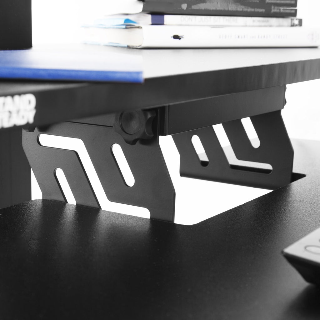 standing desk converter with monitor mount built with high quality materials