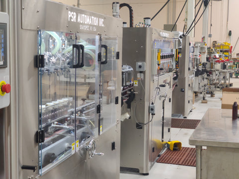 kapra filling lines in a production facility