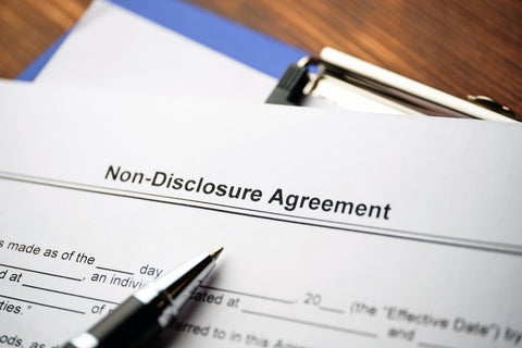 signing of a non-disclosure agreement contract