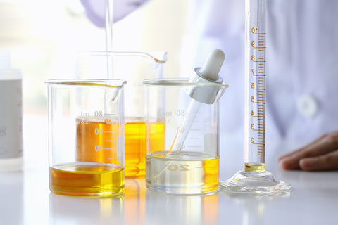 chemist creating new products in a lab