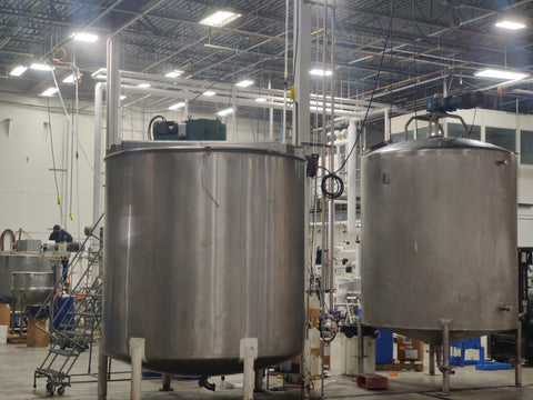 compound/mixing formulation tanks in a production facility