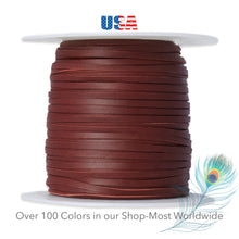 "Load image into Gallery viewer, Kangaroo Leather Lace -2.5mm (3/32"") Width-Packer Leather-BURGUNDY"