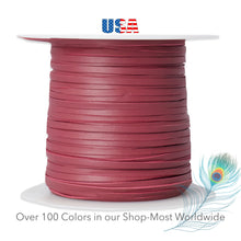 "Load image into Gallery viewer, Kangaroo Leather Lace-2.5mm (3/32"") Width-Packer Leather-CERISE"