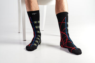 Black 3-Colourful Men's socks - Socks by William