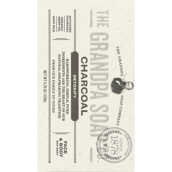 GRANDPAS: SOAP BAR CHARCOAL (4.250 OZ)
