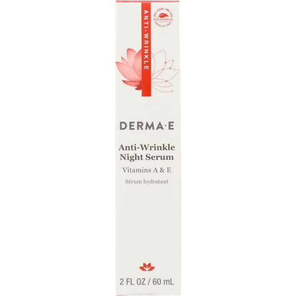 DERMA E: Anti-Wrinkle Night Serum with Vitamin A, 2 oz