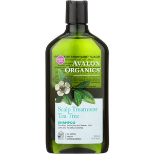 AVALON ORGANICS: Shampoo Scalp Treatment Tea Tree, 11 Oz