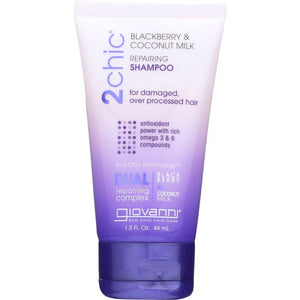 GIOVANNI COSMETICS: 2Chic Repairing Shampoo Blackberry & Coconut Milk, 1.5 oz