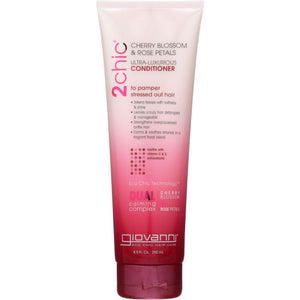 GIOVANNI COSMETICS: 2chic Ultra-Luxurious Conditioner Cherry Blossom & Rose Petals, 8.5 oz