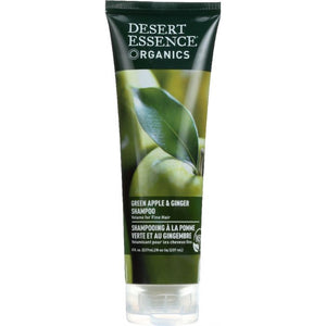 DESERT ESSENCE: Organics Shampoo Green Apple and Ginger, 8 oz