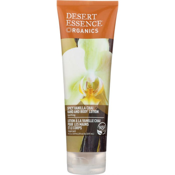 DESERT ESSENCE: Organic Hand & Body Lotion Spicy Vanilla Chai, 8 oz
