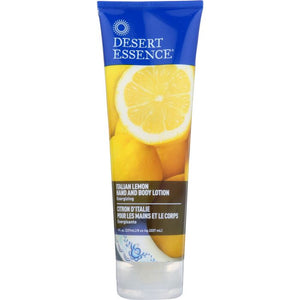 DESERT ESSENCE: Hand and Body Lotion Italian Lemon, 8 oz