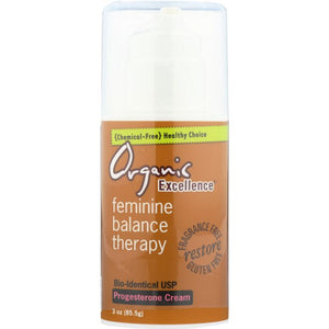 ORGANIC EXCELLENCE: Feminine Balance Therapy Progesterone Cream, 3 oz