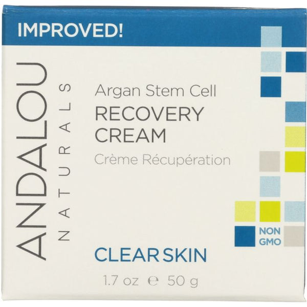 ANDALOU NATURALS: Clarifying Clear Overnight Recovery Cream, Non GMO, Paraben Free, 1.7 Oz