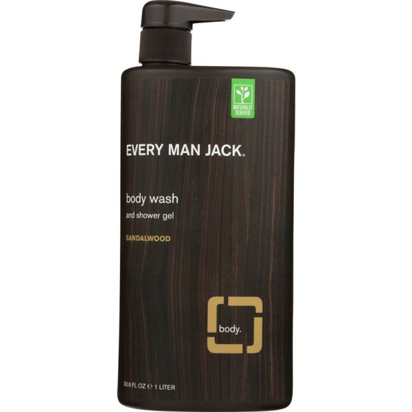 EVERY MAN JACK: Sandalwood Body Wash, 33.8 oz