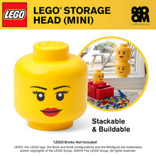 Load image into Gallery viewer, LEGO Girl Mini Storage Head