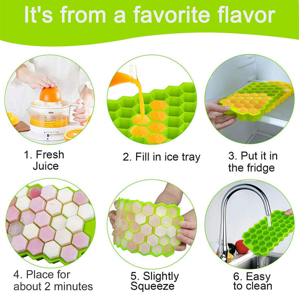 Ice Cube Maker Silicones Ice Mould Honeycomb Ice Cube Tray – NMT_Styles
