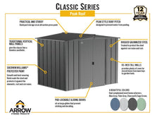 Load image into Gallery viewer, ARROW 6x5 Classic Steel Storage Shed