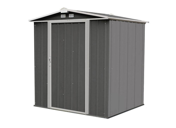 Arrow Ezee Shed 6 x 5 ft. Storage Shed - Charoal with Cream Trim
