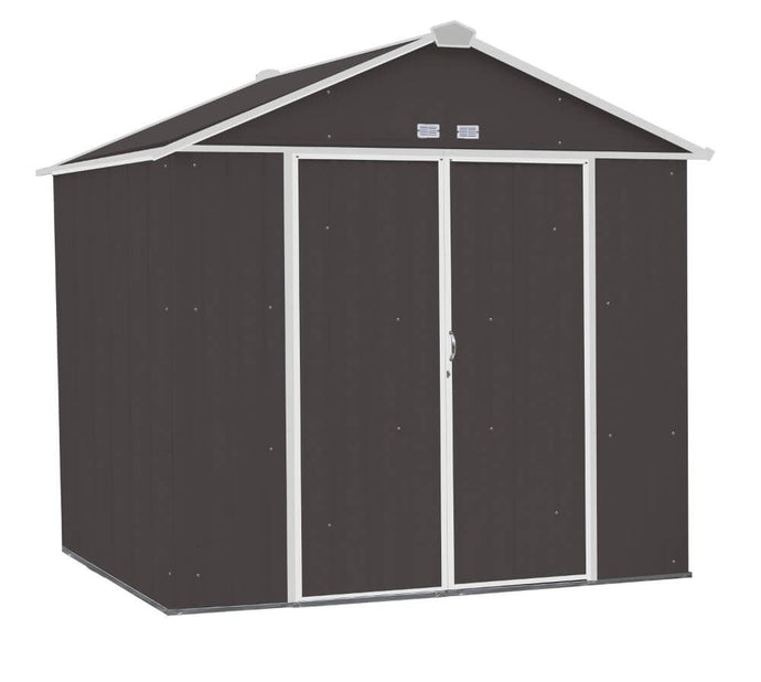 Arrow Ezee Shed 8 x 7 ft. Storage Shed - Charoal with Cream Trim