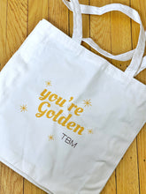 "Load image into Gallery viewer, TBM ""You're Golden"" Tote Bag *FREE with orders of $150 or more"