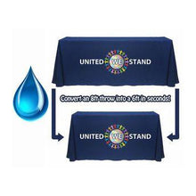 Load image into Gallery viewer, Digitally Printed Convertible 6'-8' Throw Water Resistant Tablecloth