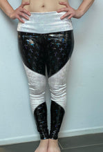Load image into Gallery viewer, Black Vinyl Cross and White Snake High Waist Legging