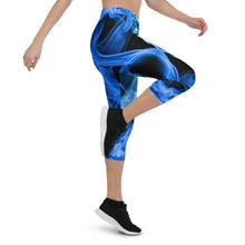 Load image into Gallery viewer, Blue Smoke Capri Leggings