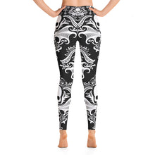 Load image into Gallery viewer, Gothic Victorian Skull Yoga Leggings