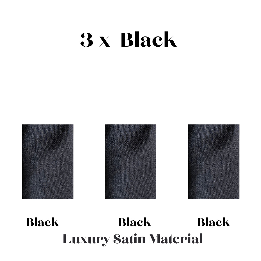 Black Satin Hypoallergenic Face Mask