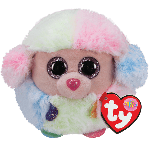 TY - Rainbow Poodle Puffy