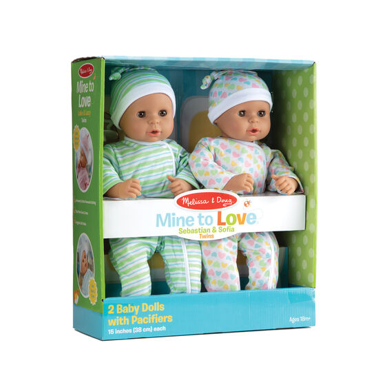 Melissa & Doug - Mine to Love Twins Sebastian & Sofia Dolls