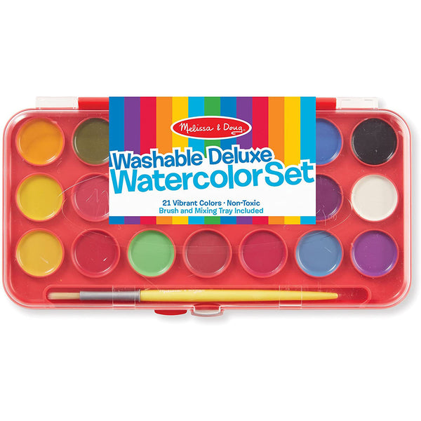 Melissa & Doug - Deluxe Watercolor Paint Set (21 colors)
