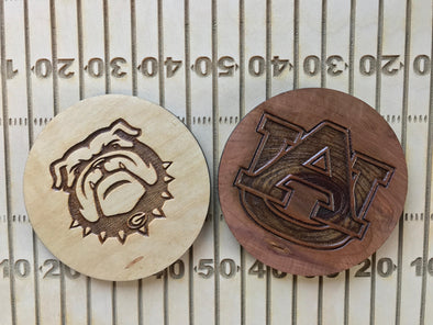 Custom Southeastern Conference College Football Team Logo | Engraved Coasters | University Graduation Present | College Ball |