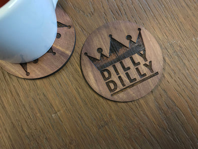 Dilly Dilly Beer Coasters | Funny Drink Holders | Gifts for Him | Man Cave | Home Bar Decor | Humorous Present | Father's Day