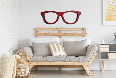 Giant Eye Glasses Cutout | Back to School Teacher Gift | Wood Wall Hanging Library Decor | Classroom Book Present | Chic Office Decorations