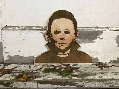 Michael Myers Halloween Wall Hanging | Haddonfield Decoration | Spooky | Wall Decor | Custom Sized | Horror Film | Classic Movie
