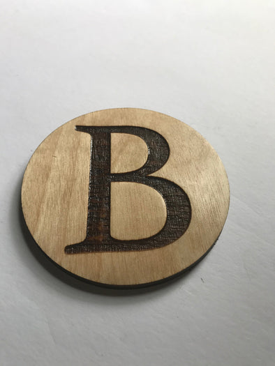 Initial Monogram Engraved Coaster | Last Name Personalized Wood Drink Holders | Housewarming Gift | Wedding Present