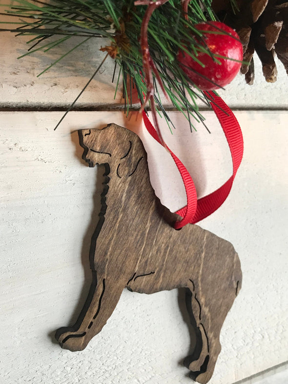 CUSTOM Dog Pet Name Christmas Ornament | Customize ANY BREED | Puppy Holiday Tree Decor Bone Stocking Tag Present Gifts