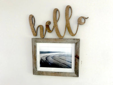 HELLO Cutout Wall Hanging | LARGE Entryway Sign | Cafe Dining Room Decor | Coffee Shop Kitchen Window | Housewarming | Wedding Present