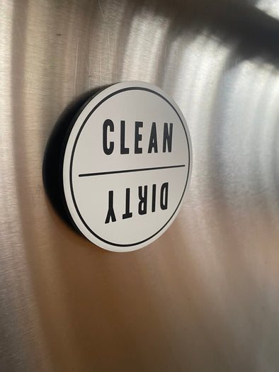 Clean Dirty Dishwasher Magnet | Reversible Kitchen Organizing Label |