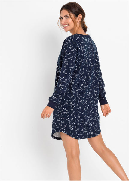 Sweat fabric nightdress