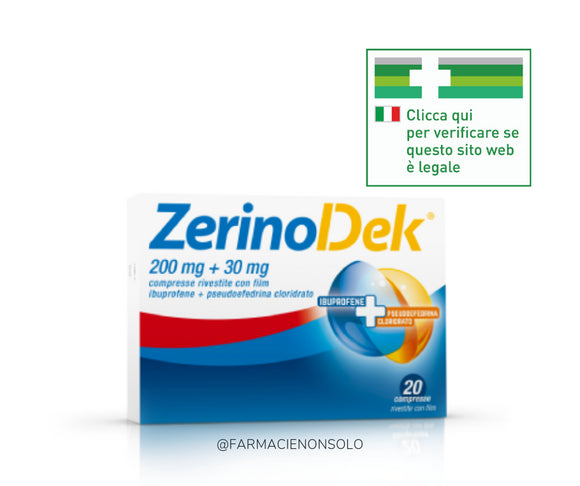 ZerinoDek 200 mg + 30 mg compresse rivestite con film