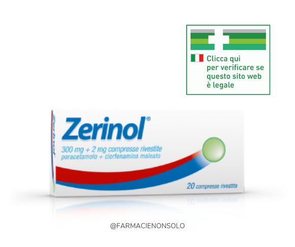 Zerinol 300 mg + 2 mg  20 compresse rivestite