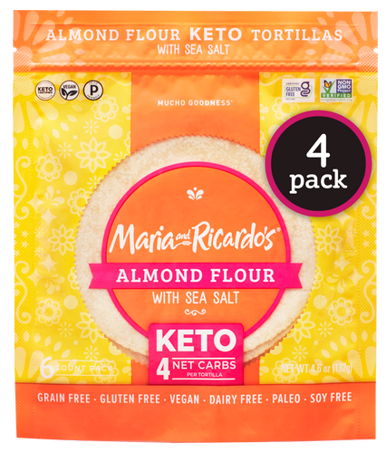 Keto Tortillas - Almond Flour Keto Tortilla - Maria and Ricardos Keto Tortillas with Sea Salt