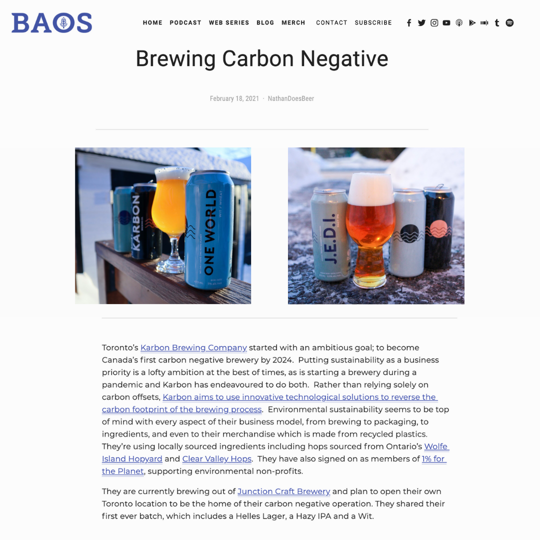 Brewing Carbon Negative