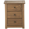 Distressed Waxed Pine Finish Bedside Cabinet