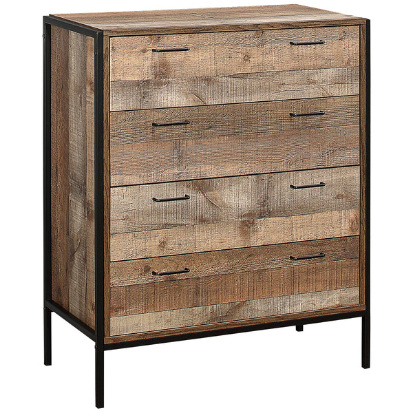 Rustic Finish Chest of 4 Drawers